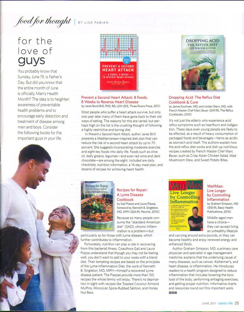 New Book Review in Taste For Life Magazine!