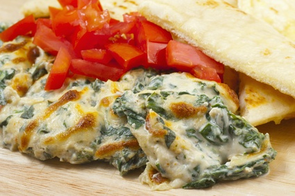 Lighter, Yet Still Creamy & Cheesy Spinach Dip
