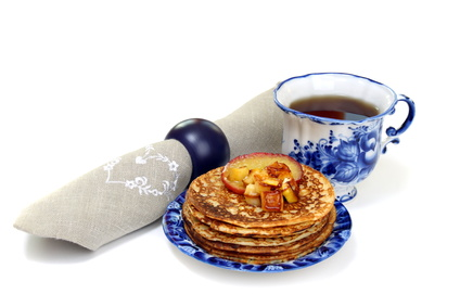Oat-Apple-Flax Pancakes