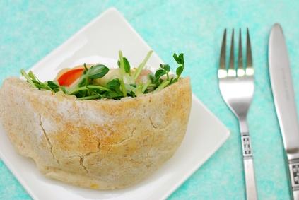 Fresh Veggie Pita Pocket Sandwich