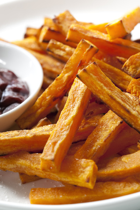 Baked Sweet Potato Steak Fries