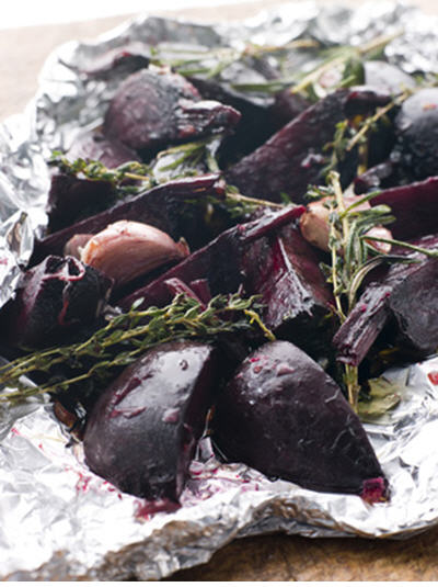 Mediterranean Food: Roasted Beets with Lemon Vinaigrette