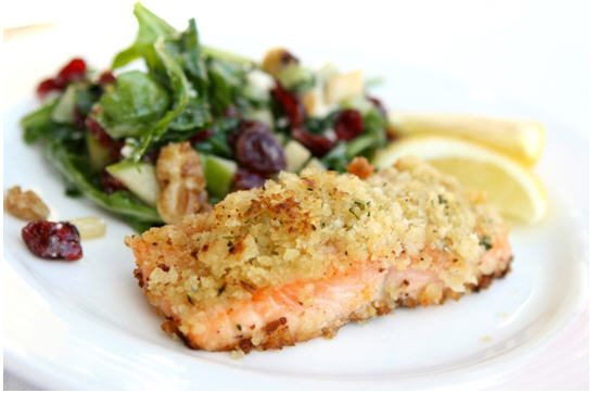 Mediterranean Recipes: Walnut Encrusted Salmon
