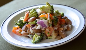 Zero Cholesterol Recipe of Beans and Broccoli Salad
