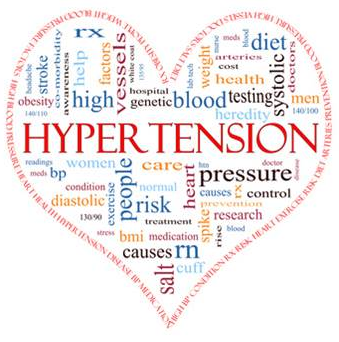 Lower blood pressure with nutritious diet and exercise.