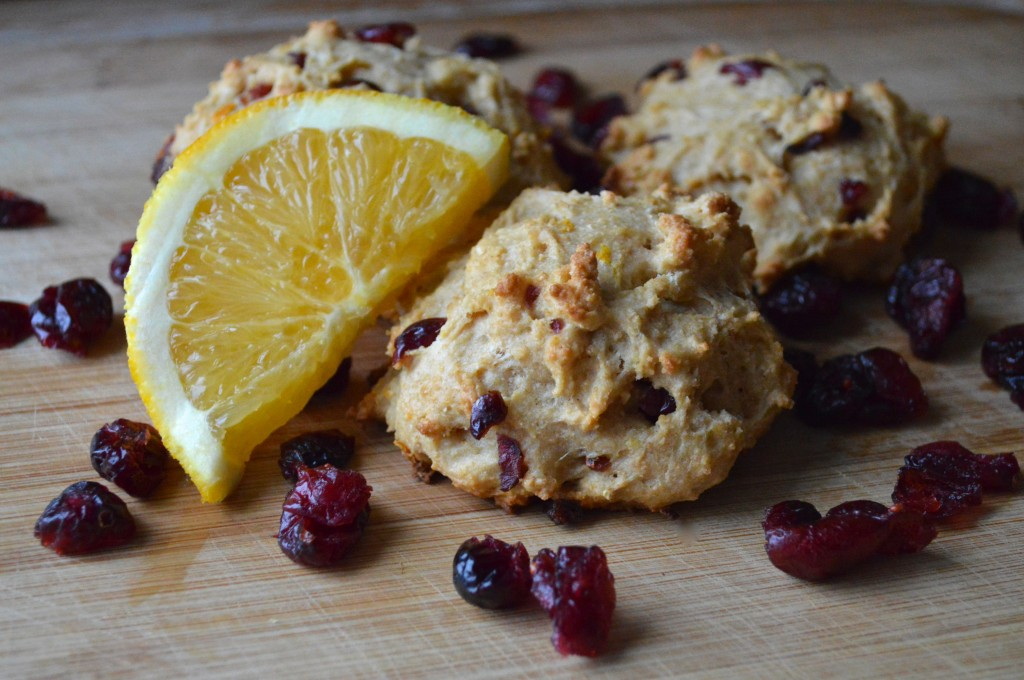 Zero Cholesterol Recipe of Whole Wheat Orange Cranberry Scone