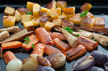 Roasted Turnips with Mustard Vinaigrette is Low Cholesterol Food
