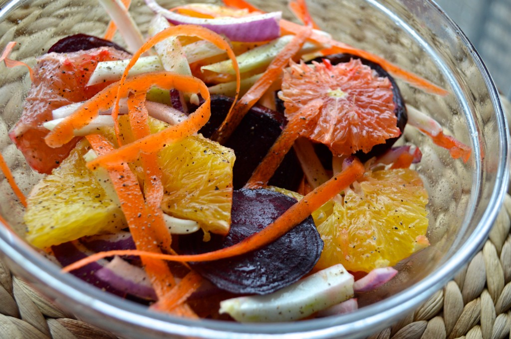 Winter Citrus Salad =  Zero Cholesterol & Immunity Booster