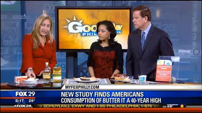 Dr. Janet Advises Substitutes for Butter on Fox 29 News Philadelphia