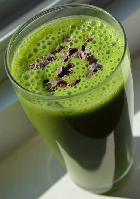 Zero Cholesterol Recipe of Minty Fresh Shamrock Smoothie